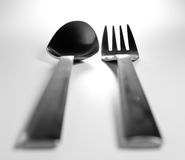 Fork and spoon Royalty Free Stock Photo