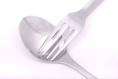 Fork and spoon Royalty Free Stock Photography