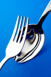 Fork and spoon. Group of fork and spoon Stock Photography