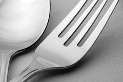 Fork and spoon Stock Photo