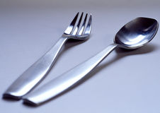 Fork and Spoon.  Royalty Free Stock Photography