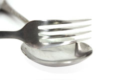 The fork with spoon Royalty Free Stock Photos