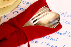 Fork with spoon Royalty Free Stock Images