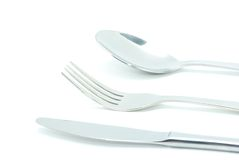 Fork, Spoon And Knife Stock Photography
