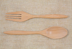 Fork and Spoon Royalty Free Stock Photos