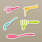 Fork and spoon and chopsticks icons  Royalty Free Stock Photo