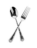 Fork and spoon are crossed Stock Photos