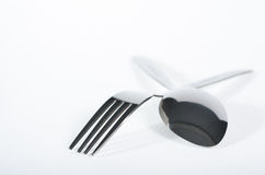 Fork and spoon Royalty Free Stock Image