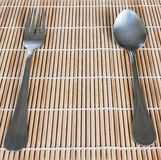 Fork and spoon for eating Stock Image