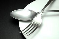Fork and spoon. Food concept Royalty Free Stock Image