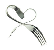 Fork and spoon heart Royalty Free Stock Photography
