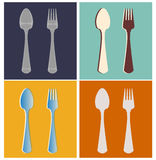 Fork, spoon Royalty Free Stock Image