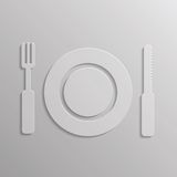 Fork and spoon icon Royalty Free Stock Photos