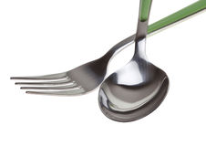 Fork and spoon isolated Royalty Free Stock Photography