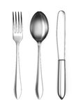 Fork, spoon and knife Royalty Free Stock Images