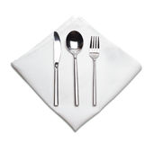 Fork, spoon and knife Stock Images