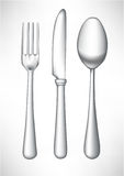 Fork, spoon and knife. Cutlery: fork, spoon and knife Royalty Free Stock Images