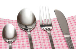 Fork, spoon and knife Royalty Free Stock Photos