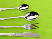 Fork, spoon and knife Stock Image