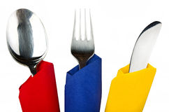 Fork spoon and knife Royalty Free Stock Photography