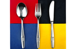 Fork spoon and knife Stock Image