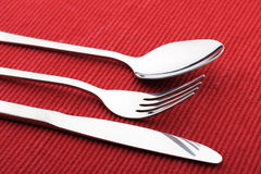 Fork spoon and knife Royalty Free Stock Photos