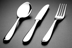 Fork Spoon and Knife Royalty Free Stock Image