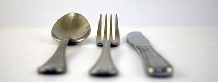 Fork and spoon and knife Royalty Free Stock Photography
