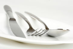 Fork, spoon and knife Royalty Free Stock Photo