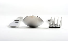 Fork, spoon and knife Royalty Free Stock Image