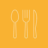 Fork Spoon Knife doodle icon vector illustration eps10. Royalty Free Stock Photo