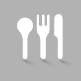 Fork Spoon Knife doodle icon vector illustration eps10. Stock Photos