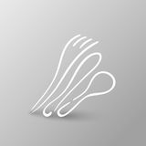 Fork Spoon Knife doodle icon vector illustration eps10. Stock Image