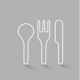 Fork Spoon Knife doodle icon vector illustration eps10. Royalty Free Stock Image