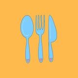 Fork, spoon, knife Royalty Free Stock Photos