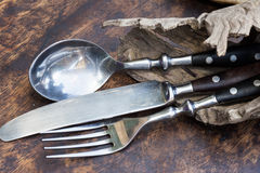 Fork spoon knife set Royalty Free Stock Photo