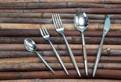Fork, spoon, knife Stock Photo