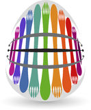 Fork spoon logo Stock Photography