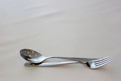 Fork and spoon. Stock Photos