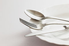 Fork Spoon and Table Knife. Fork, Spoon and Table Knife on the white background Royalty Free Stock Image