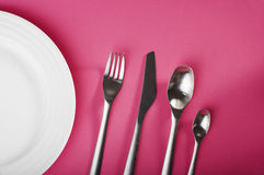 Fork and spoons Stock Photo
