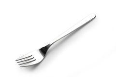 Fork Stainless steel isolated over the white. Background Stock Photo