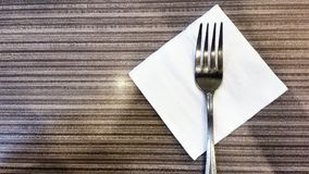 Fork on table Royalty Free Stock Photography