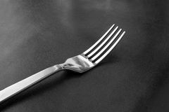 Fork on table food , black and white tone. Fork on table food , black and white Stock Images