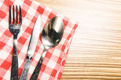 Fork and table knife Stock Photography