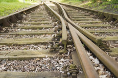Fork in the track Stock Images