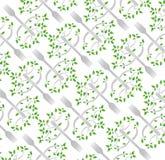 Fork tree pattern illustration design Royalty Free Stock Images