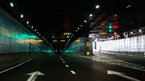 Fork tunnel. Forked tunnel with light in shanghai Royalty Free Stock Image