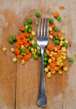 Fork and veggie Royalty Free Stock Photos