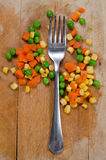 Fork and veggie Royalty Free Stock Photography
